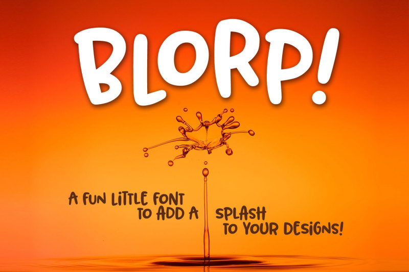 blorp-a-fun-weird-little-font