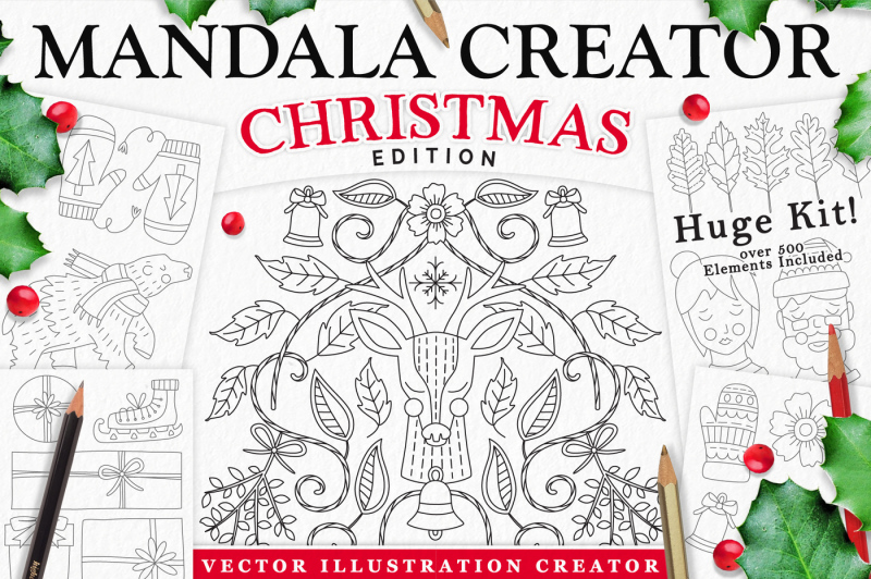 coloringbook-mandala-creator-christmas-edition-for-adobe-illustrator