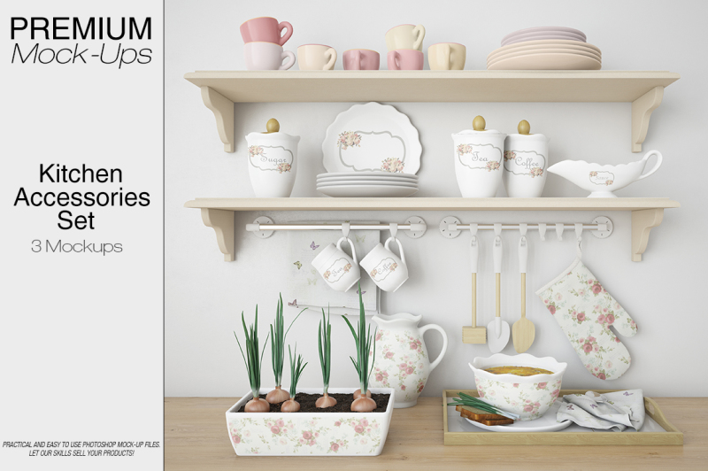 Download Kitchen Accessories Mockup Pack PSD Mockup ...