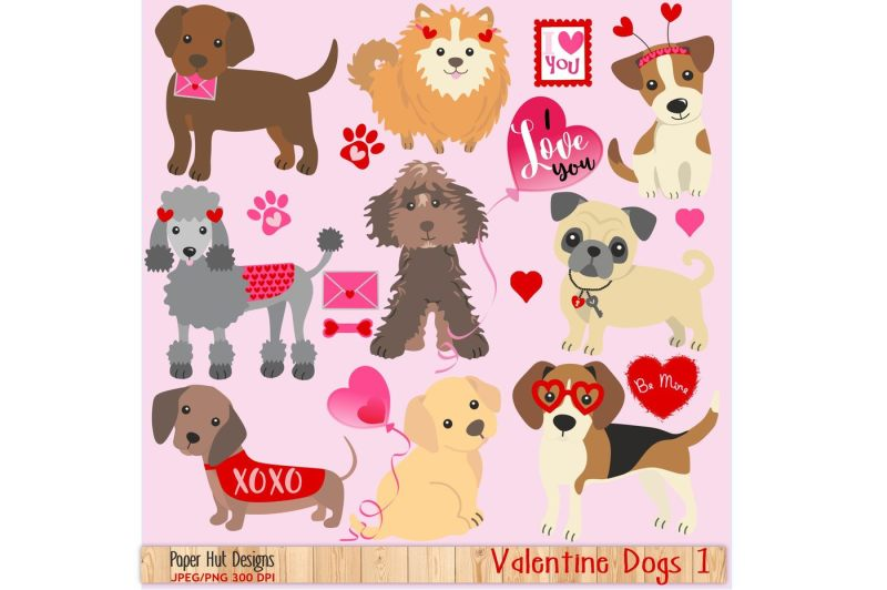 valentine-dogs-clipart