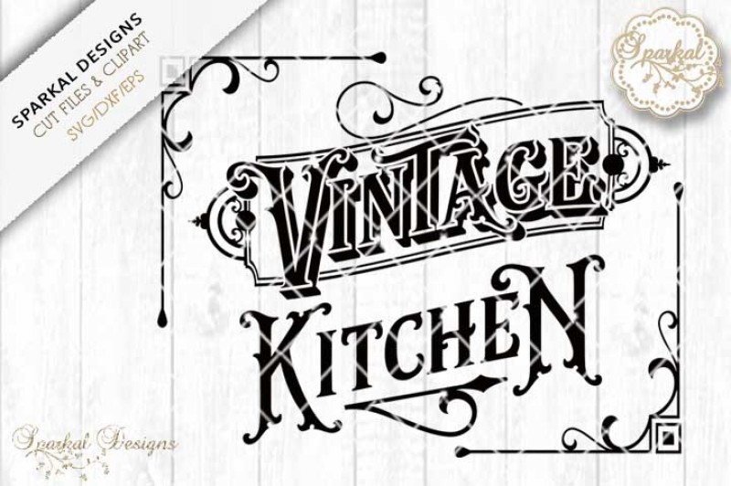 Vintage Kitchen Quote Svg Cutting Design By Sparkal Designs