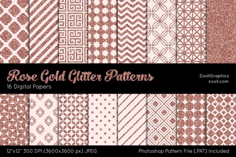 rose-gold-glitter-digital-papers