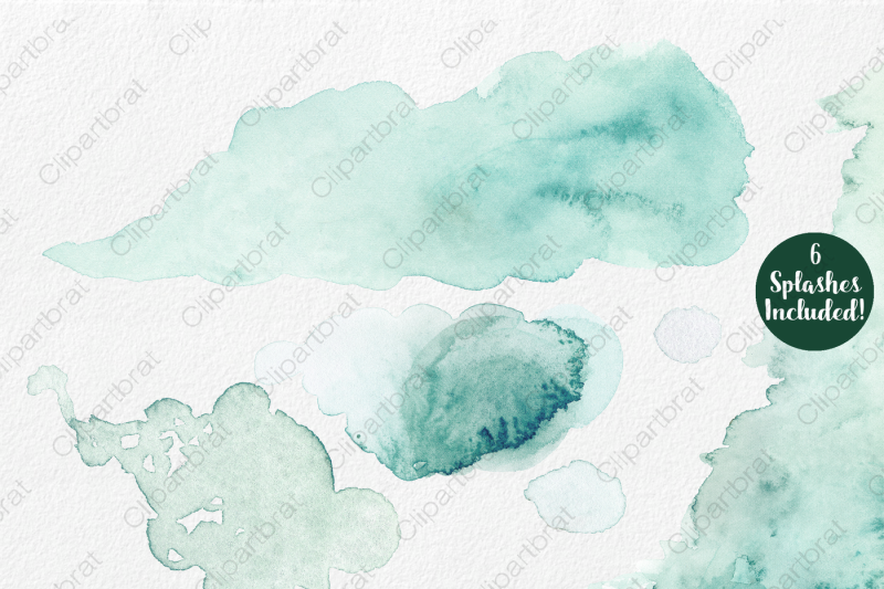 teal-and-purple-watercolor-floral-set