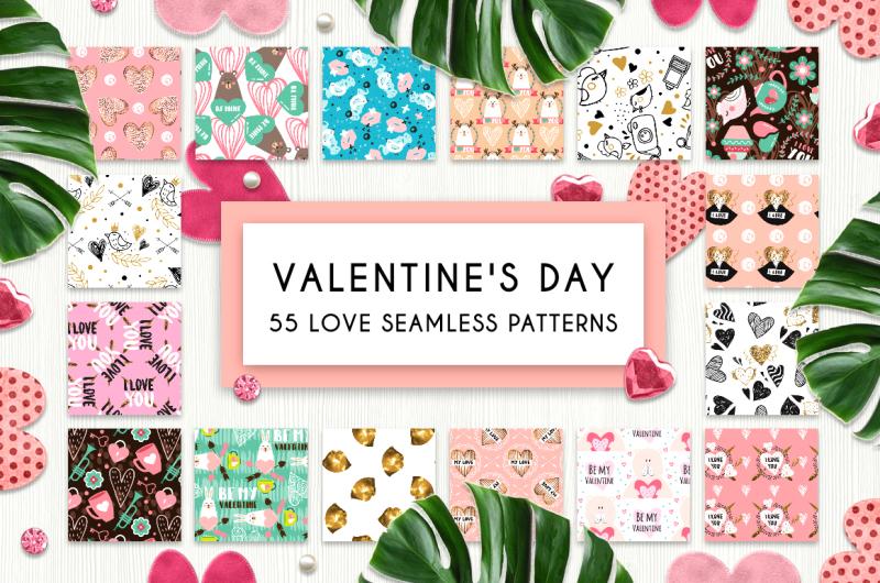 55-love-seamless-patterns