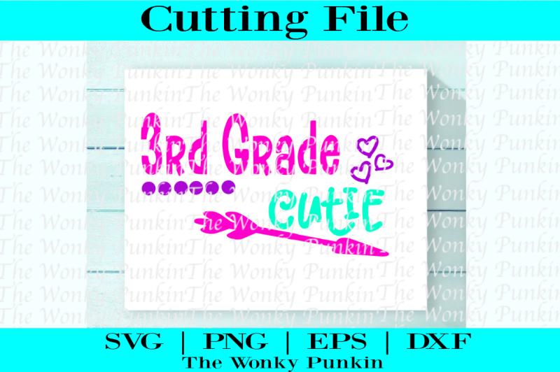 3rd-grade-cutie-svg