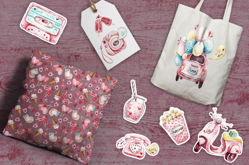 watercolor-pink-things