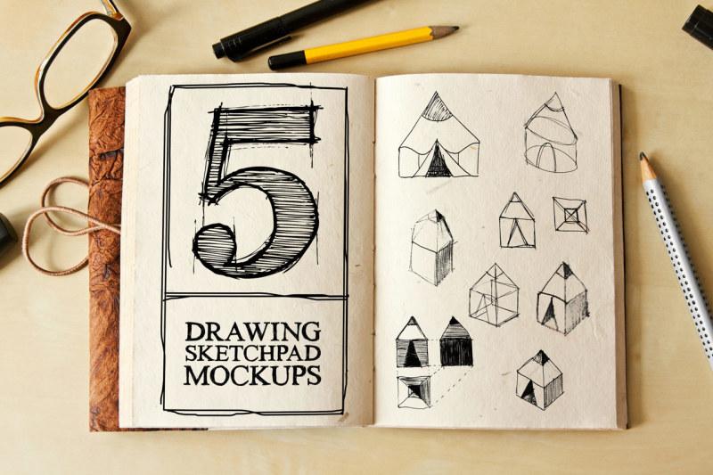 drawing-sketch-pad-mock-ups