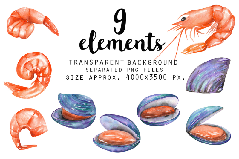seafood-watercolor-clip-art