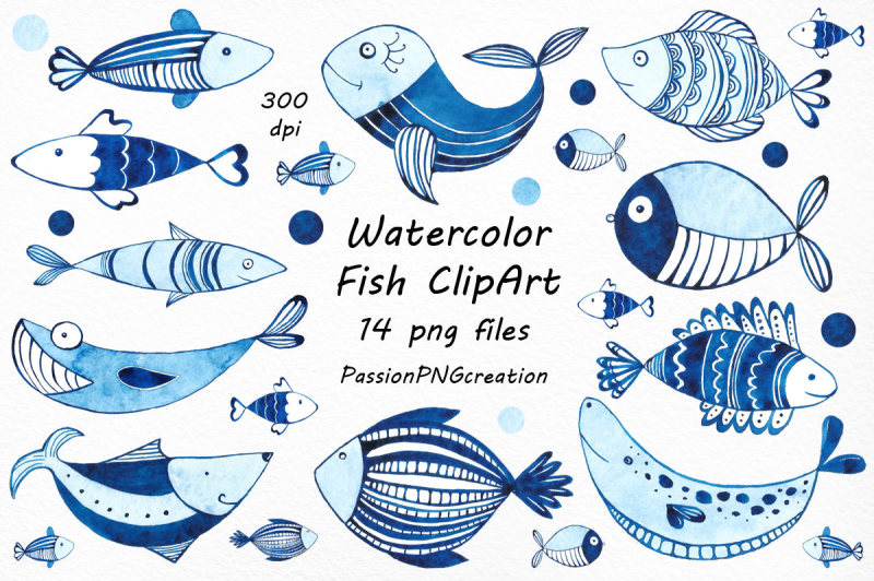watercolor-fish-clipart