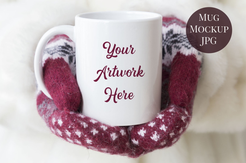 Free Mug mockup -woman holding mug (PSD Mockups)