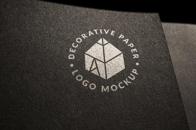 Free Decorative Paper Logo Mock-up 2 (PSD Mockups)