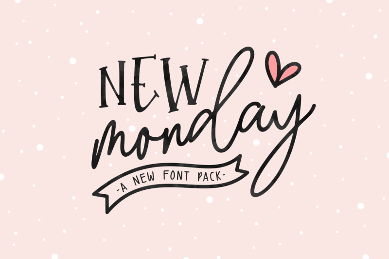 new-monday-font-pack