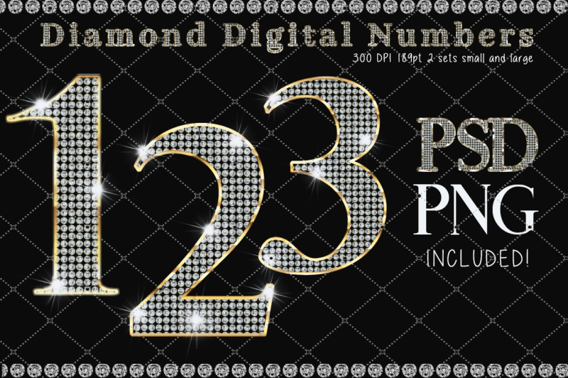 diamond-and-gold-numbers-alphabet-clipart