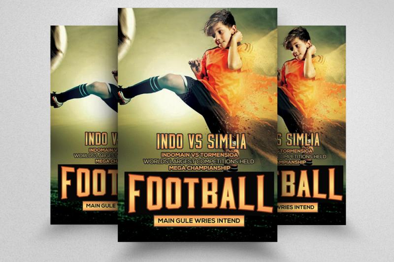 football-match-flyer-bundle