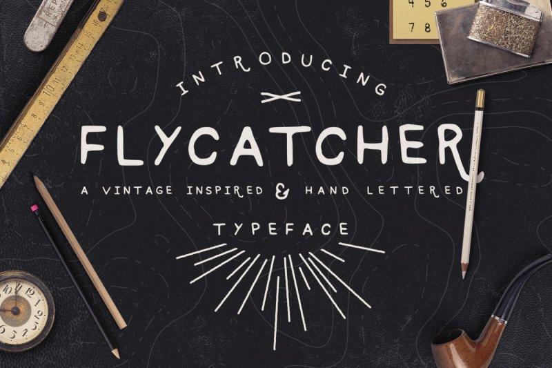 flycatcher-font
