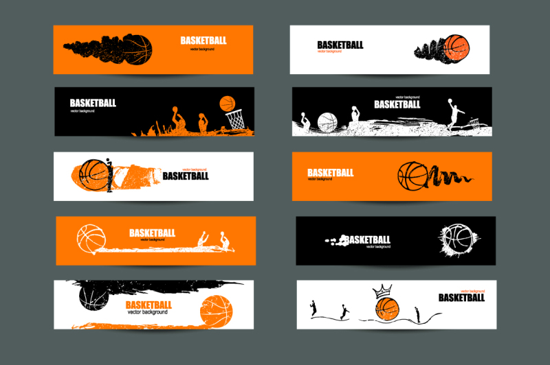 art-basketball-sport-banners-sketch