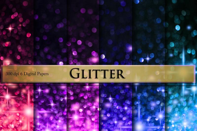 glitter-digital-paper