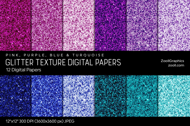 glitter-digital-papers-pink-purple-blue-and-turquoise