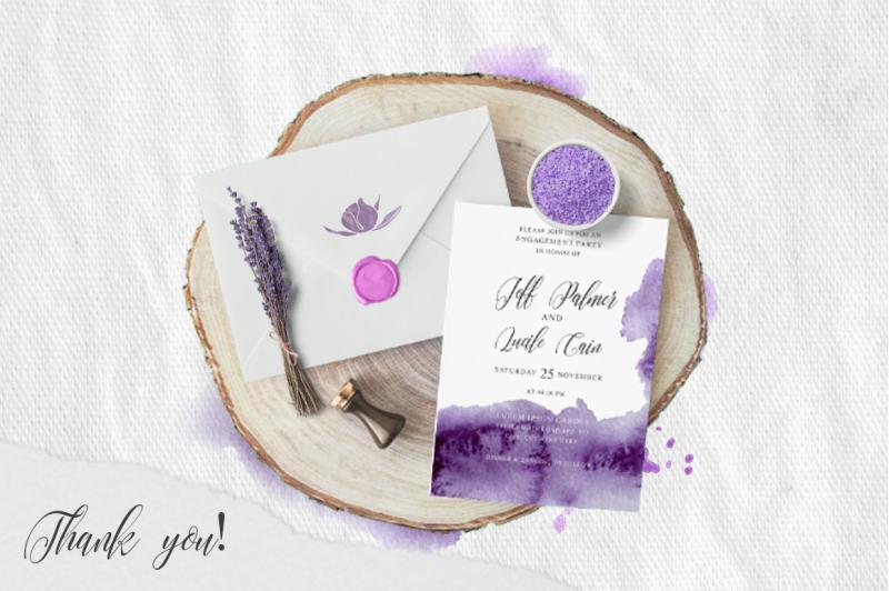 ultra-violet-watercolor-wedding-invitation-suite