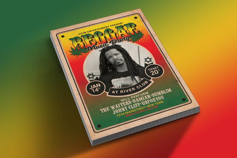 reggae-music-flyer