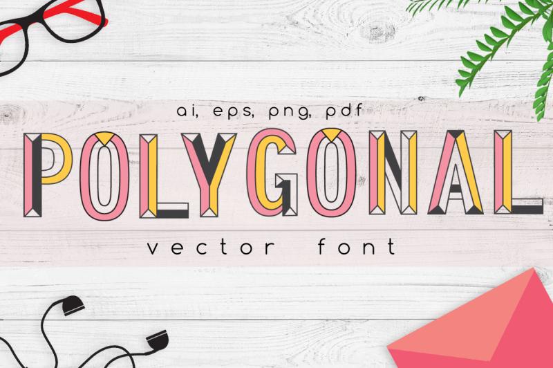 polygonal-vector-font