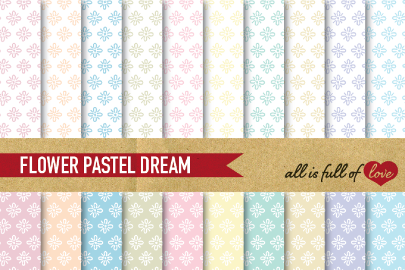 hand-draw-floral-digital-paper-pack-dream-collection