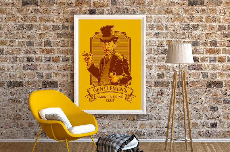 frame-mockup-poster-armchair-yellow