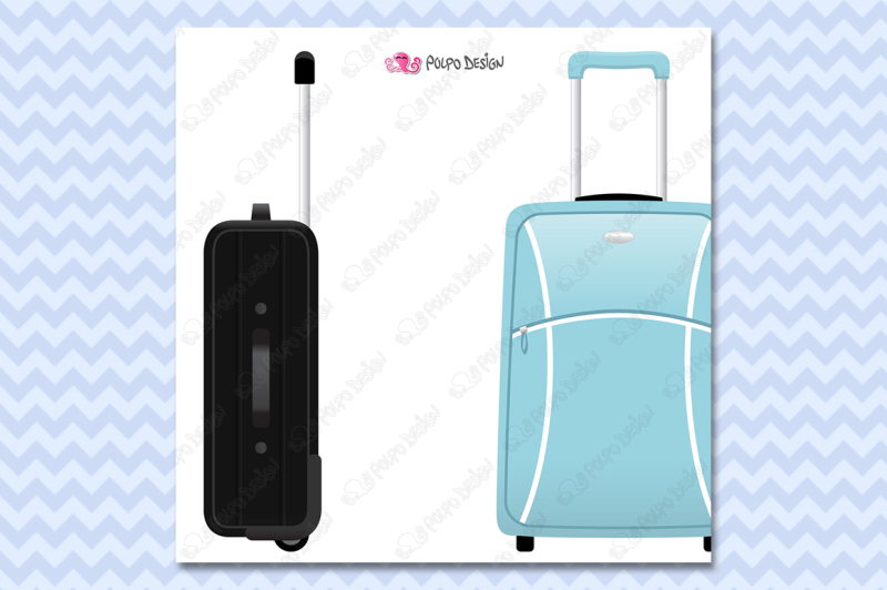 rolling-suitcases-clipart