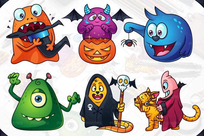 cute-cartoon-monsters-set