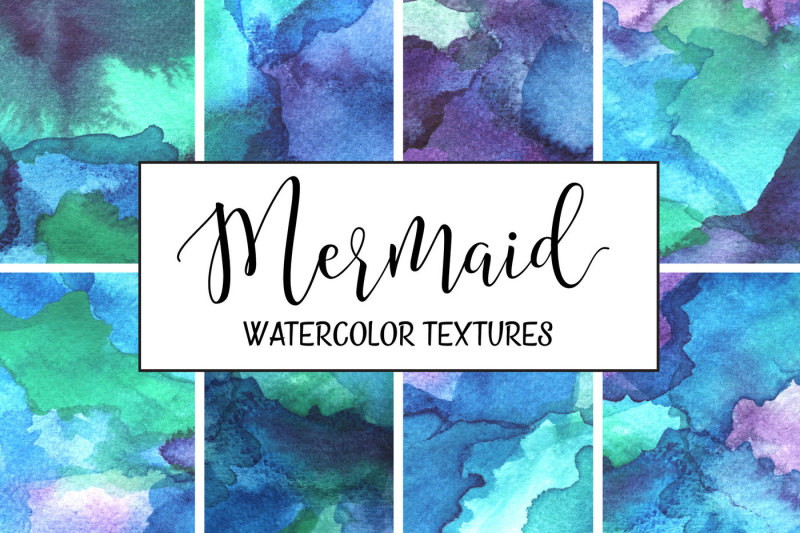 mermaid-watercolor-textures