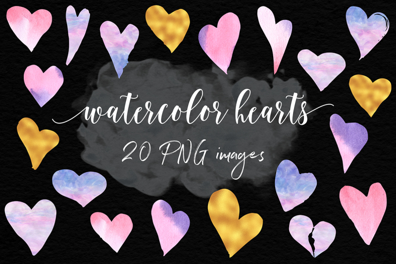 watercolor-and-gold-hearts