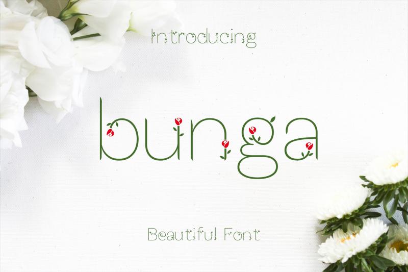 bunga-font