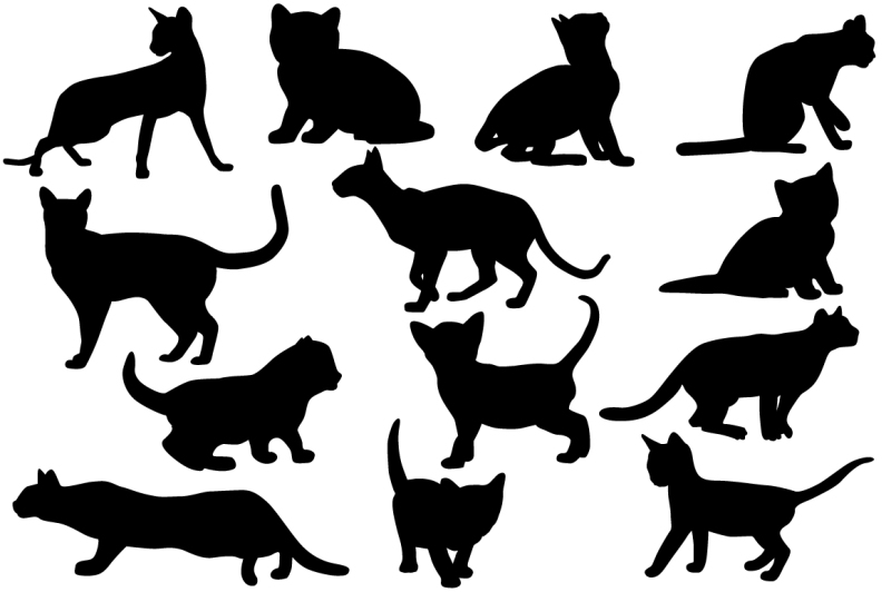 silhouettes-of-cats