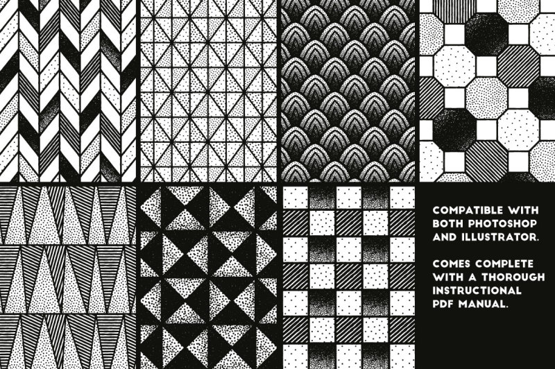 stippled-and-seamless-fineliner-patterns