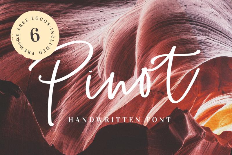 pinot-handwritten-font-and-logos