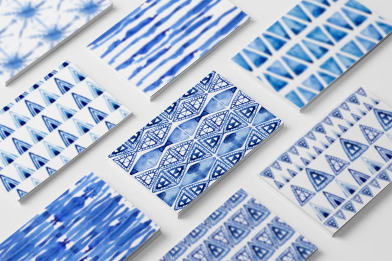 indigo-blue-watercolour-patterns-ii