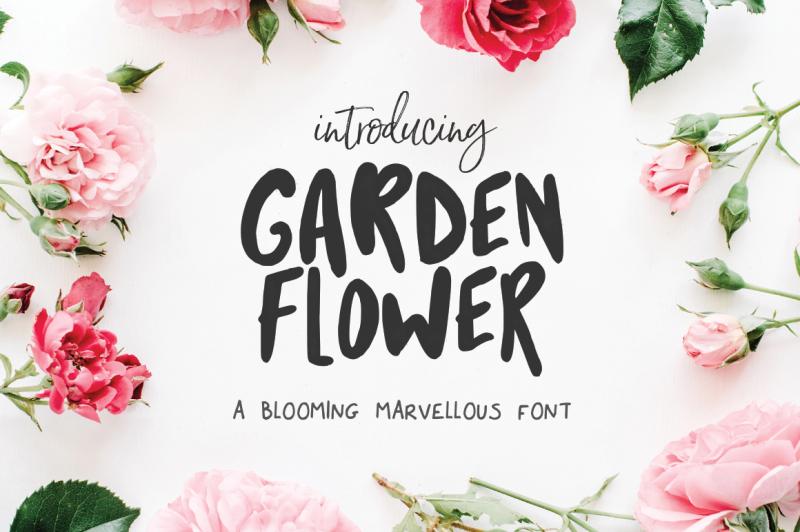 garden-flower-font