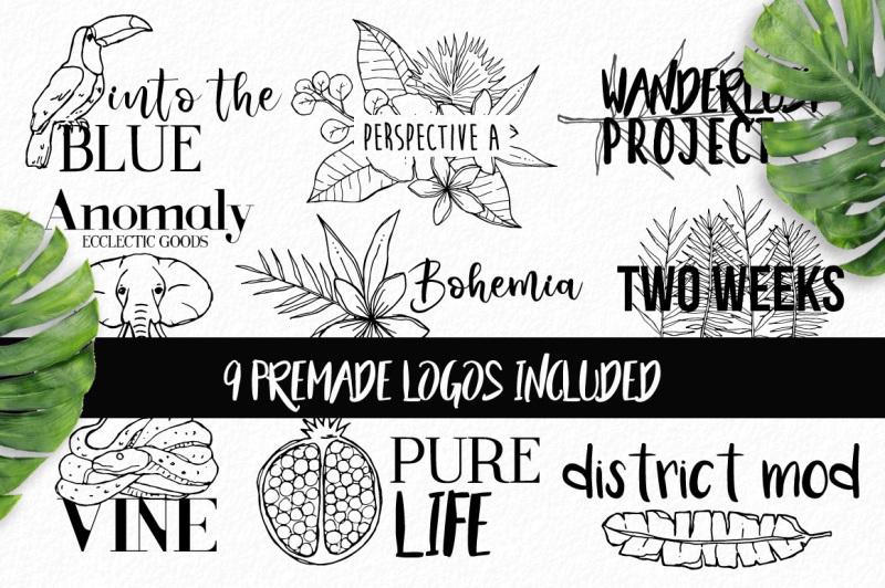 hand-drawn-tropical-logo-design-bundle