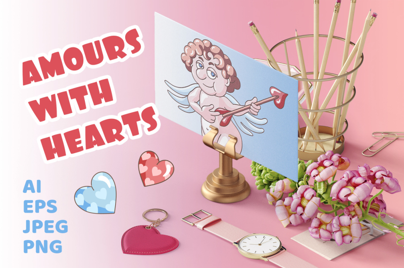 amours-with-hearts