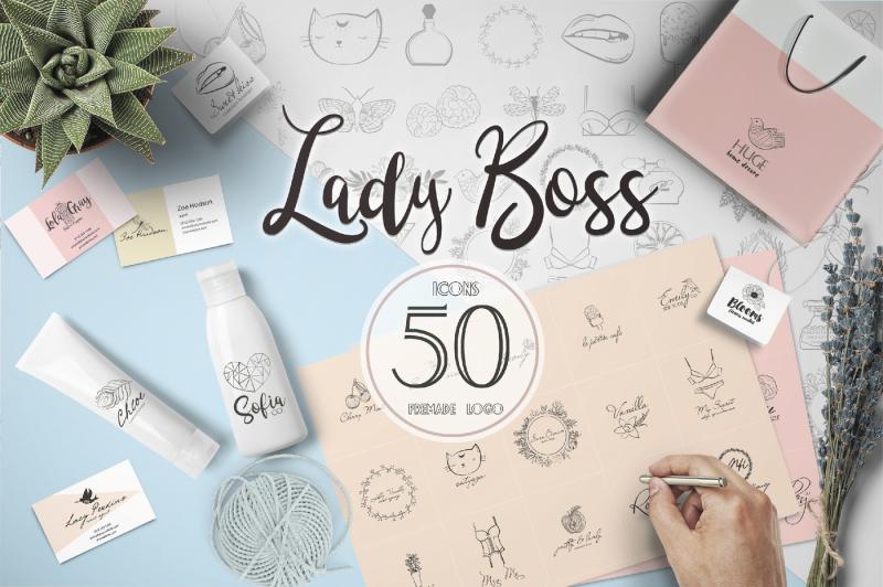 lady-boss-premade-logo-template