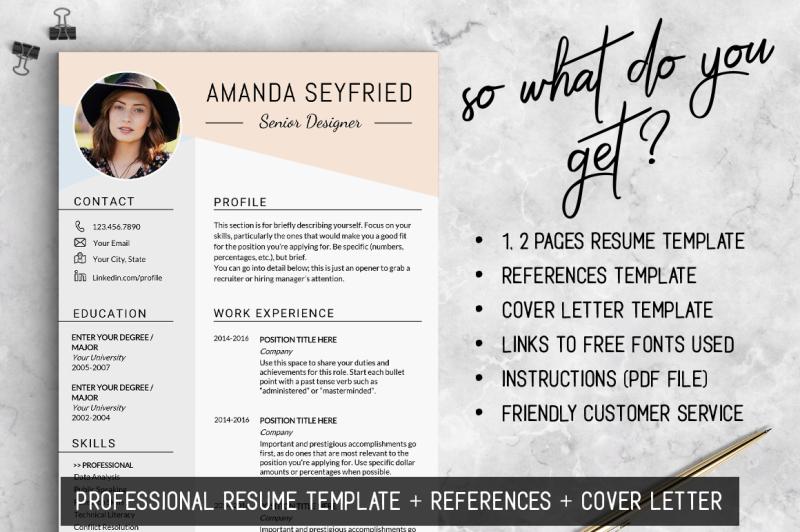 feminine-resume-template-instant-download-feminine-cv-template
