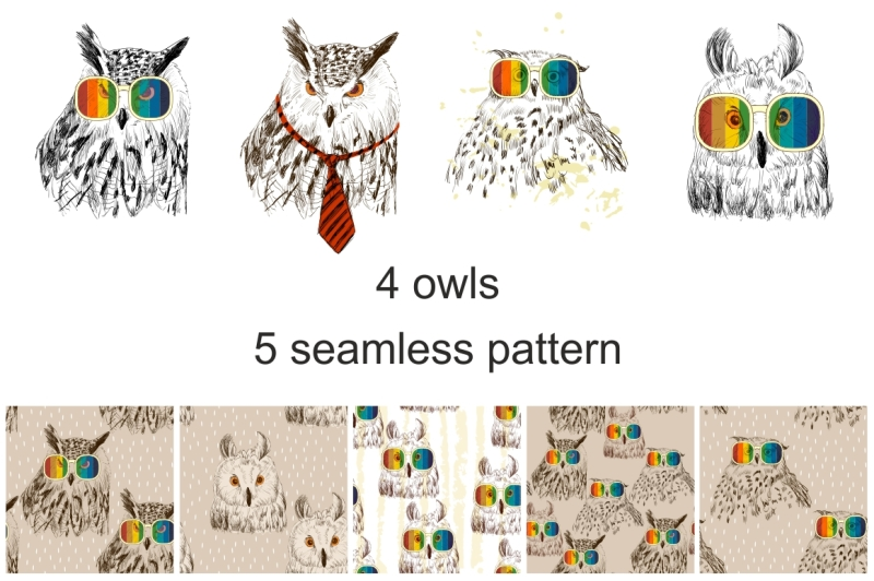 fashion-owls-set