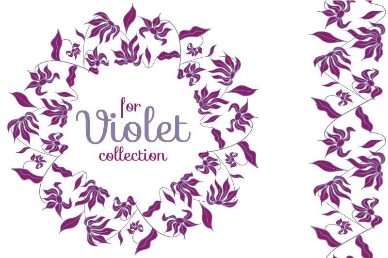 violet-pre-made-wreaths-and-seamless-brushes