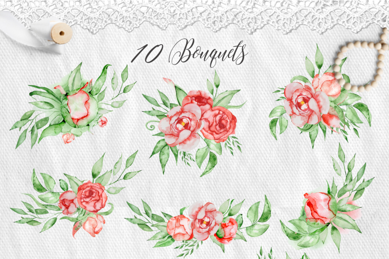 peonies-buds-and-flowers-watercolor-bouquets