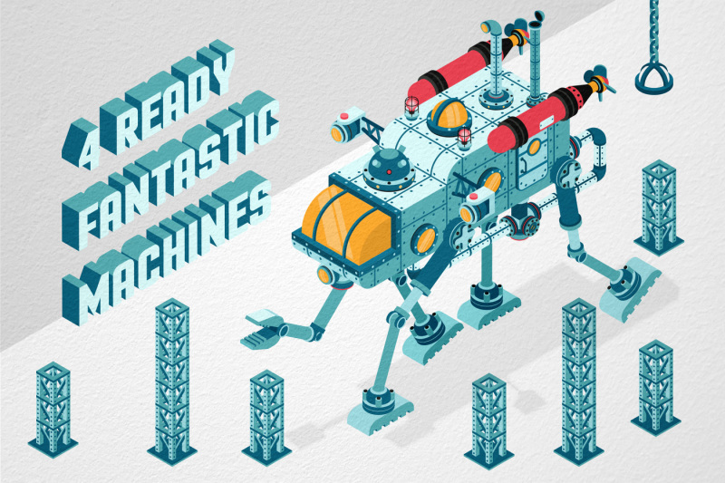 isometric-machinery-construction-kit