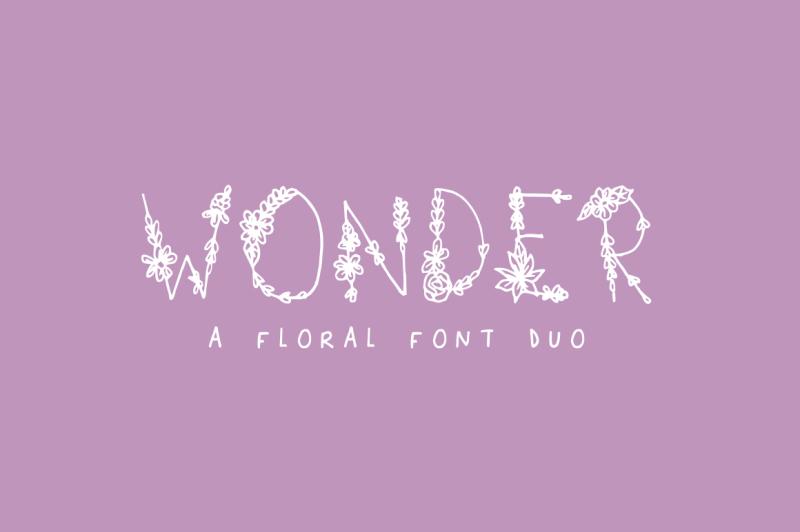 wonder-floral-font