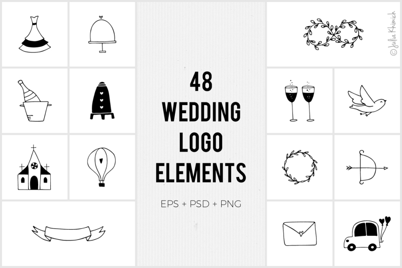 wedding-logo-elements
