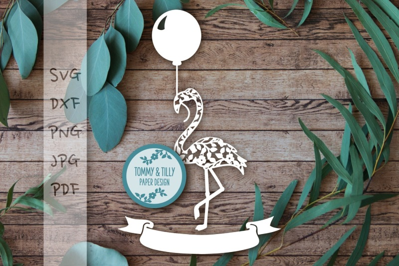 vintage-flower-flamingo-with-balloon-svg-dxf-png-pdf-jpg