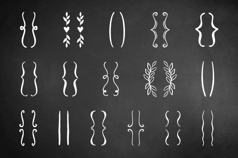 hand-drawn-brackets-set