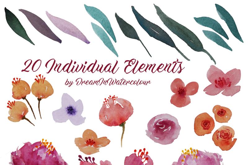 pink-watercolor-flowers